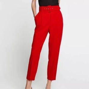 Zara Pants - Zara red high waist trouser small but will fit 28